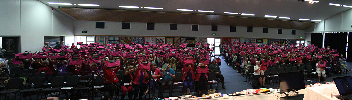 A sea of pink. Ladies at the LWA convention in Adelaide in 2013